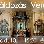 Elsőáldozás Verőce 2020. október 10. 15:00